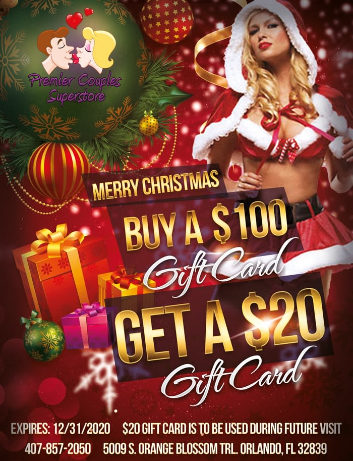 Merry Christmas. Buy a $100 Gift Card and Get a $20 Gift Card